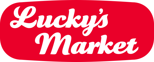 A theme logo of Lucky's Market